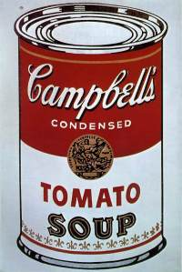 Warhol Campbell's Soup Can 1964