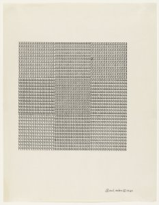 Carl Andre, Untitled 1960
