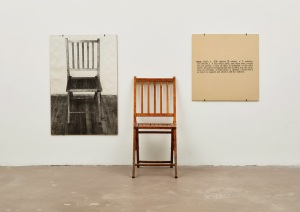 One and Three Chairs